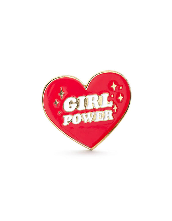 Girl Power Heart Enamel Pin