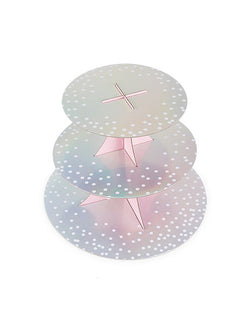 "Cakewalk 3 Tier Gleaming Paper Stand in 8"" 10"" and 12"""