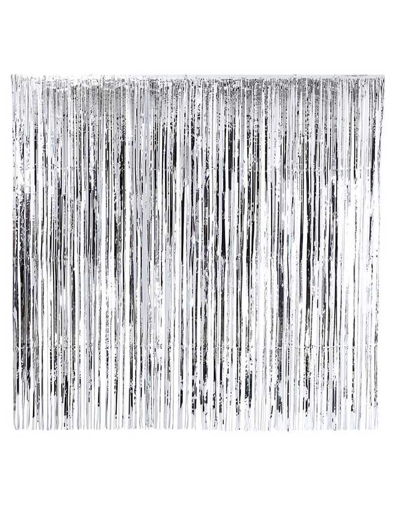 Talking Tables 2M Glitterati Silver Fringe Curtain