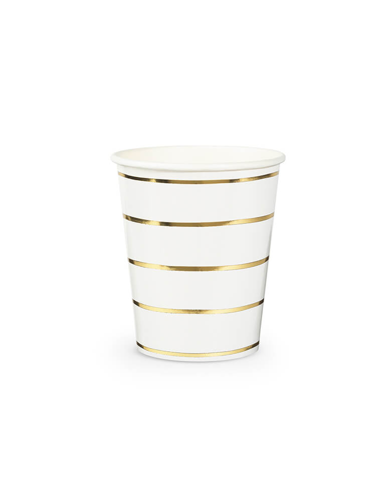 Daydream Society 9oz Frenchie Stripes Gold Striped Cups