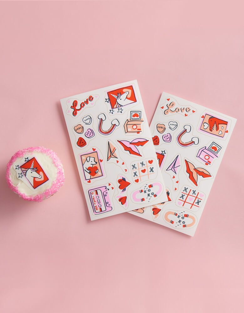 Goodie Goodie Stickies Valentine's Day Themed Edible Decorating Stickers With Packaging_Set of 24 stickers