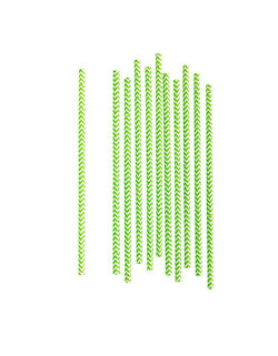 Eco friendly Green Chevron Party Paper Straws
