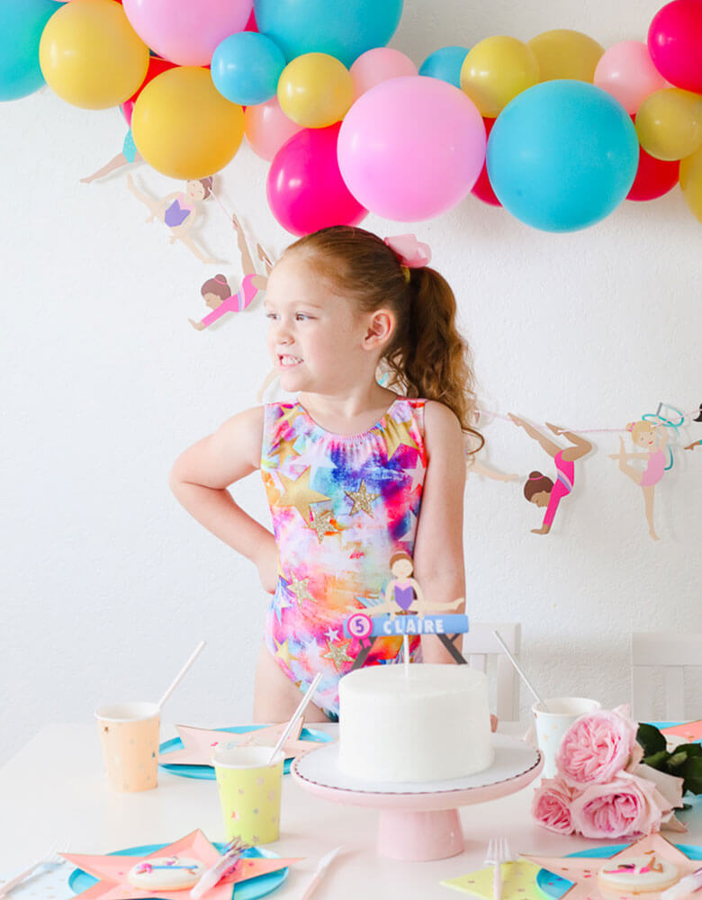 Girl's Gymnastics Themed Party styled by Twinkle Twinkle Little Party