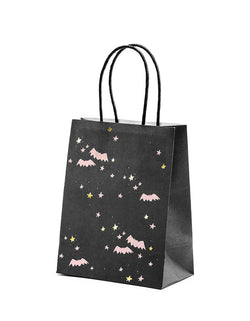 Halloween Bats Black and Pink Party Bags (Set of 6)