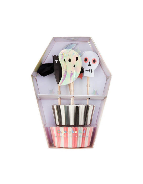 Meri Meri_Halloween-Icon-Cupcake-Kit, Momo party Kids Halloween Party Supplies