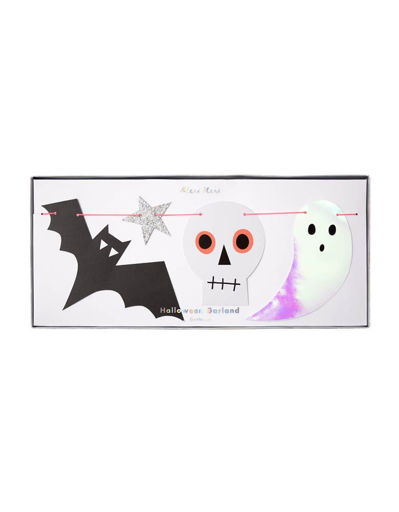 Meri Meri_Halloween-Icon-glimmering  Garland Party Decoration with package