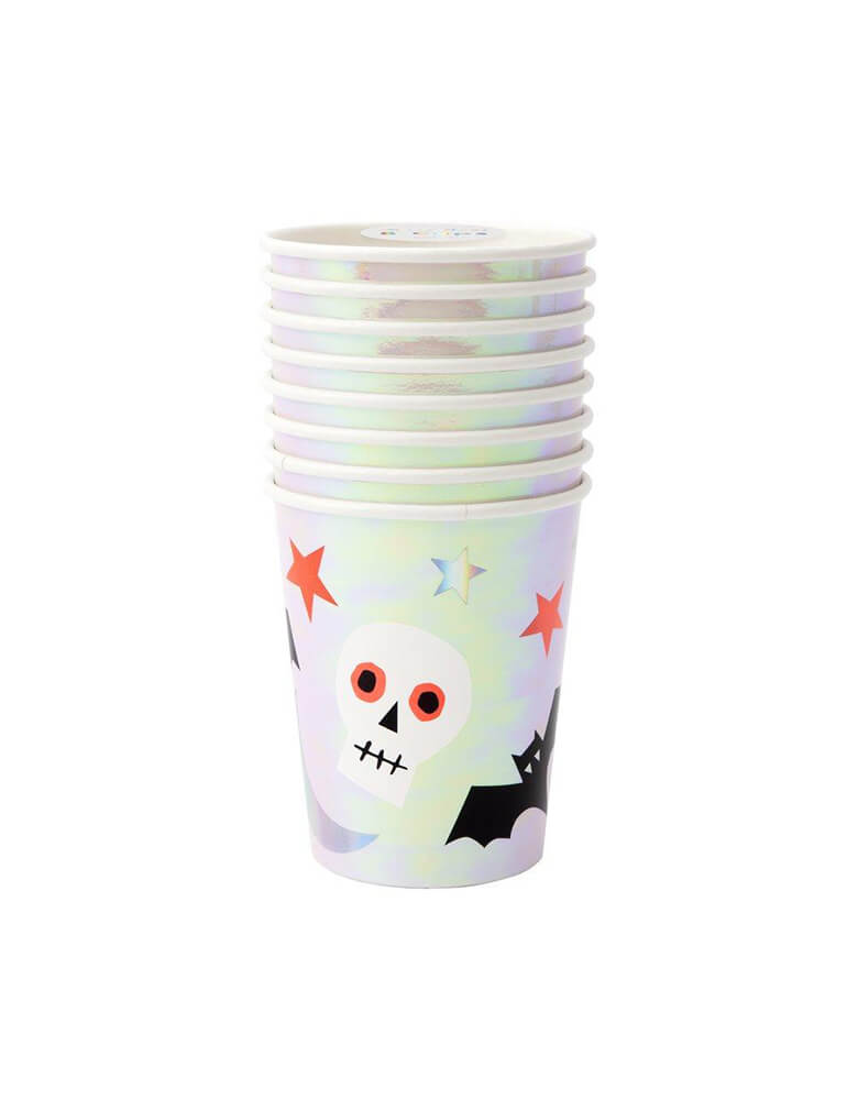 Meri Meri_Halloween-Icons-Cup with Pack of 8, Momo Party Kids Halloween Party Tableware