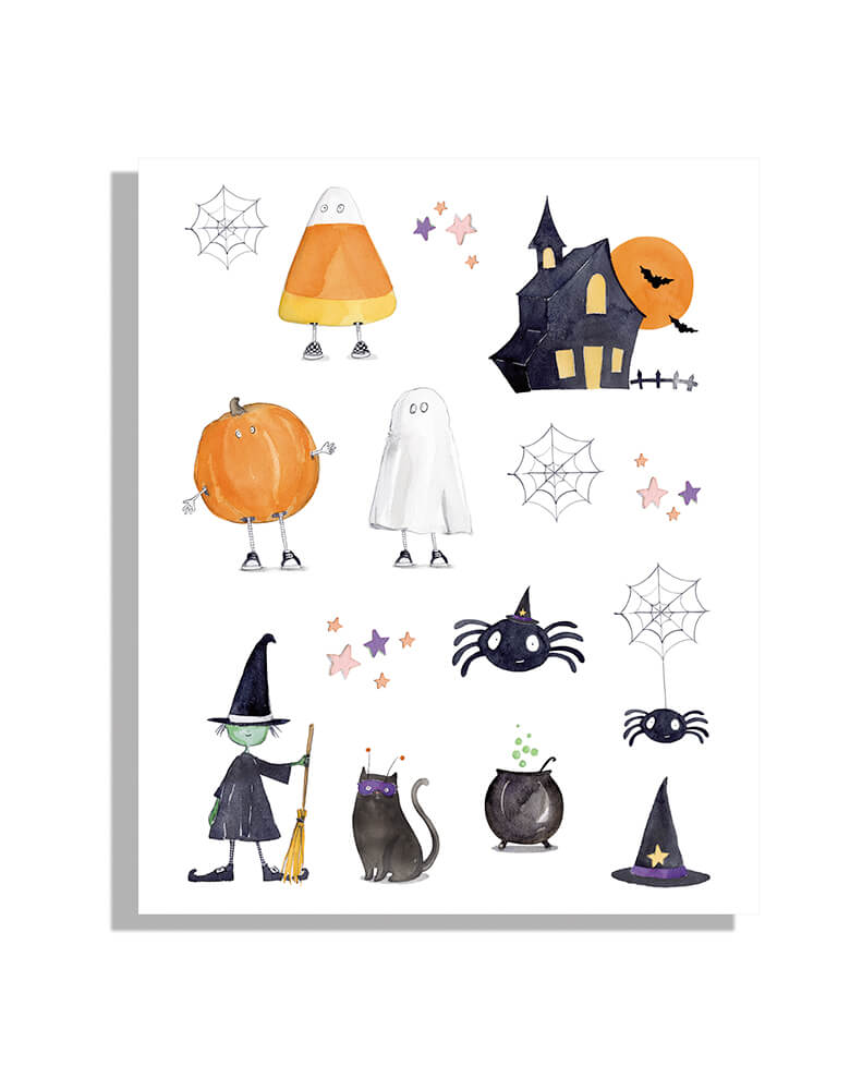 Halloween Trick or Treat Squad Edible Decorating Stickers