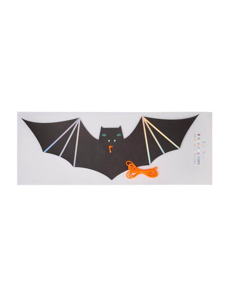 Meri Meri_Hanging-Bats-Decorations with package, each box pack of 4 bats