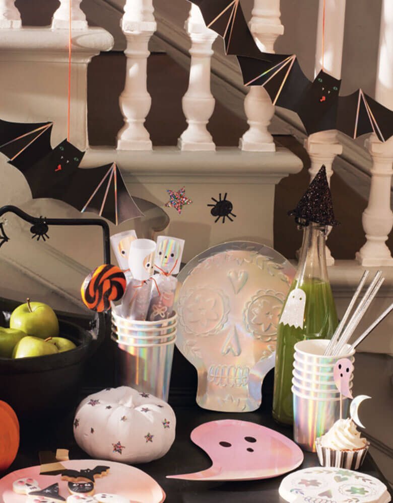Halloween Party Decorations with Meri Meri_Hanging-Bats, Ghost plates, skull napkins