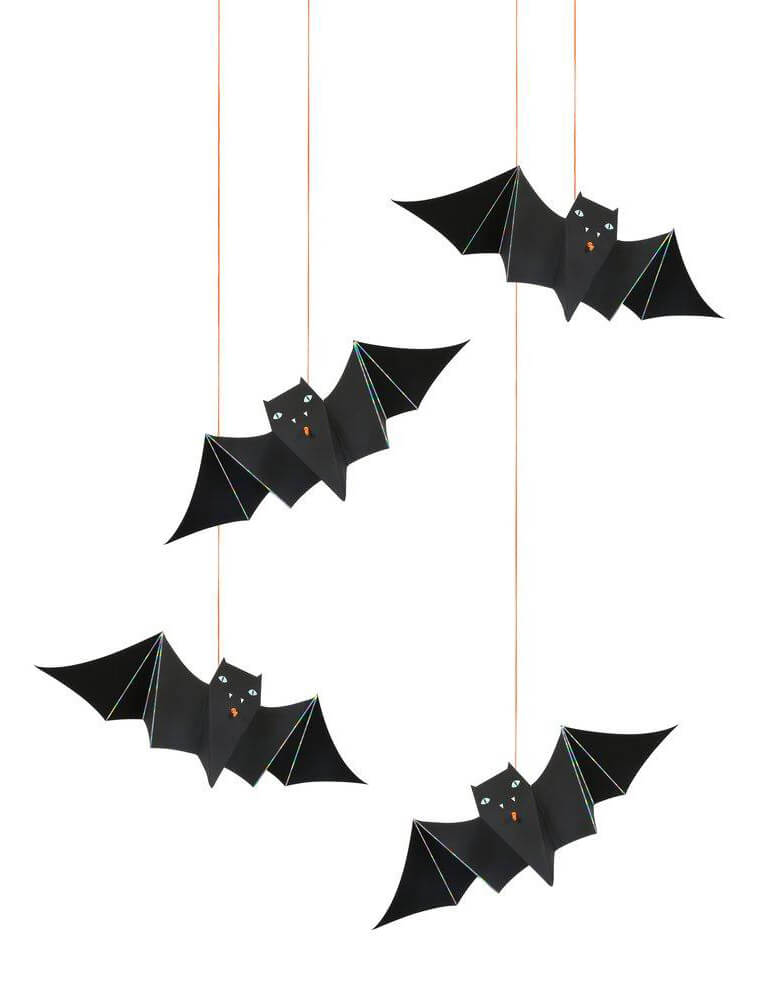 Meri Meri_Hanging-Bats-Decorations for Kids Halloween Party, Pack of 4 bats