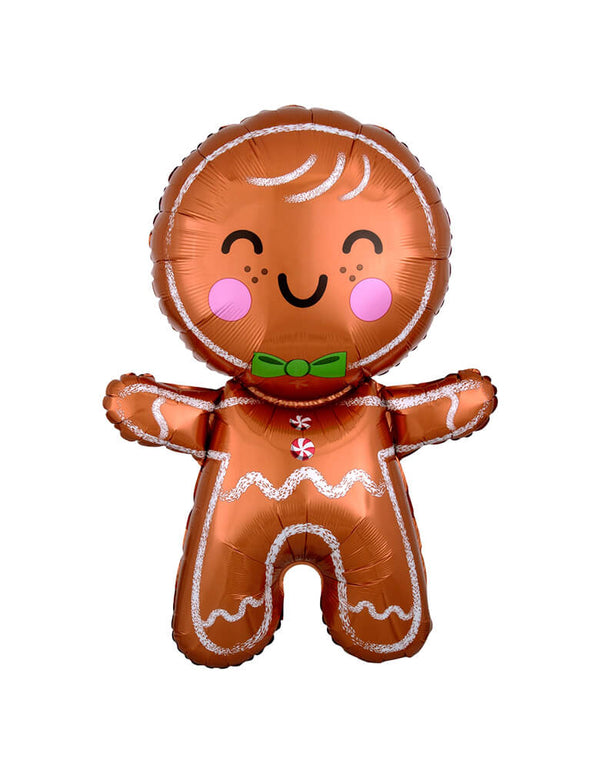"Anagram 31"" Happy Gingerbread Man Foil Mylar Balloon"