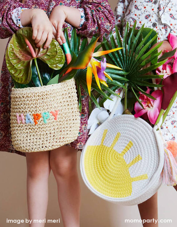 Happy Woven Straw Bag
