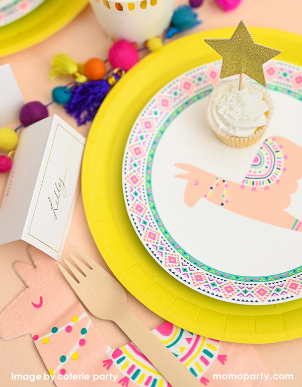 Happy Llama Small Paper Party Plates (Set of 10)