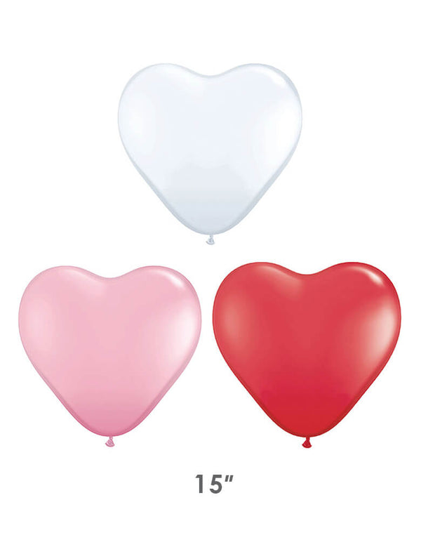 Qualatex 15 Inch Heart-Shaped-Latex-Balloon-Assorted_Sweetheart Assortment