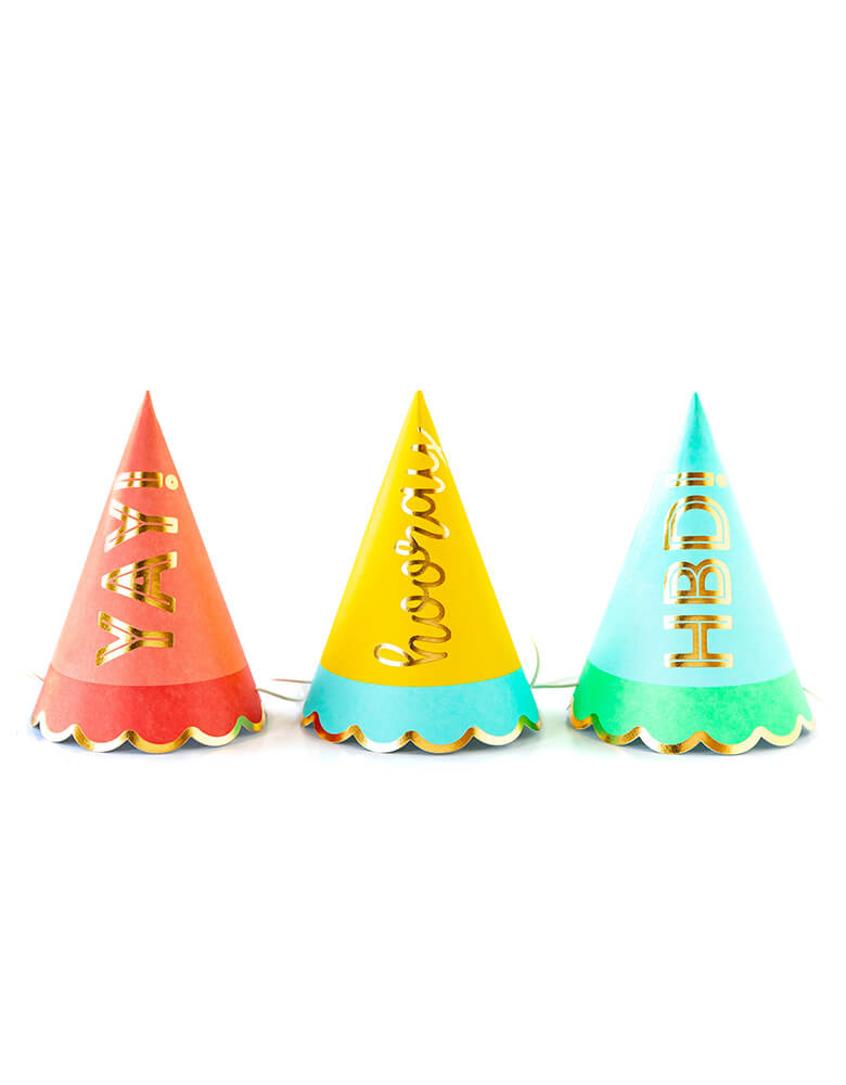 My Mind's Eyes Hip Hip Hooray Colorful Party Hats