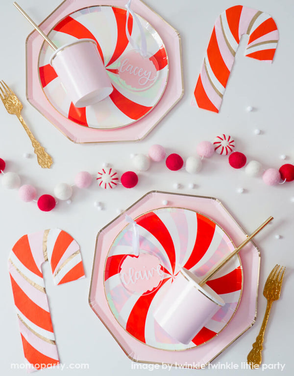 Candy Cane Napkins (Set of 16)