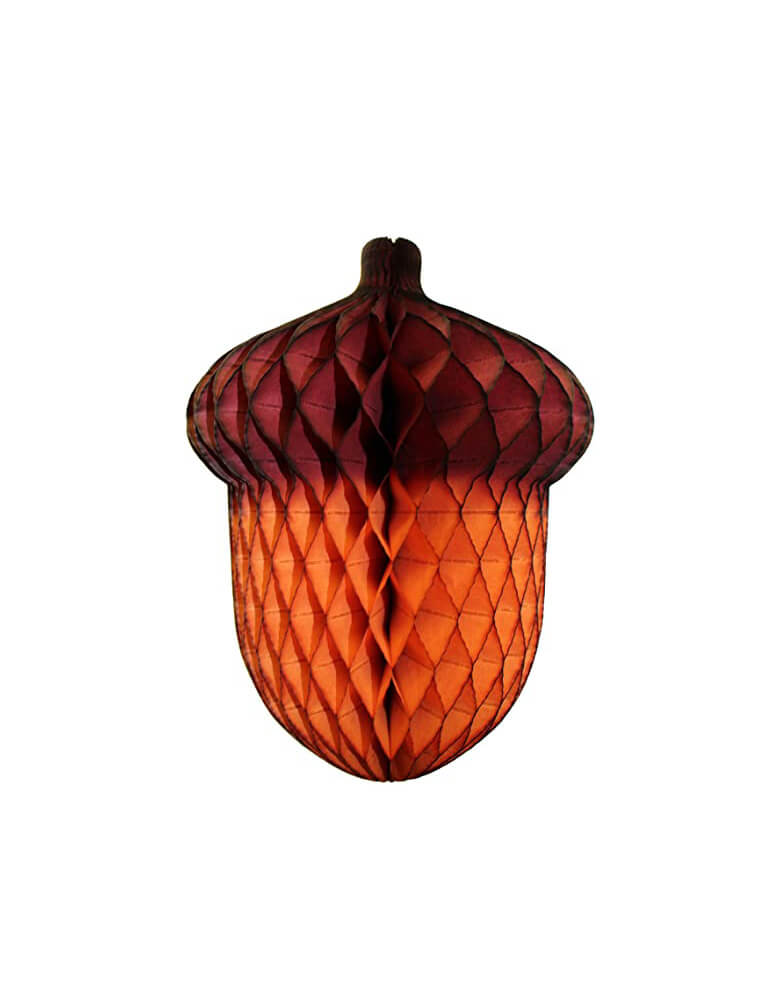 "Devra 14"" Honeycomb Acorn Party Decoration"