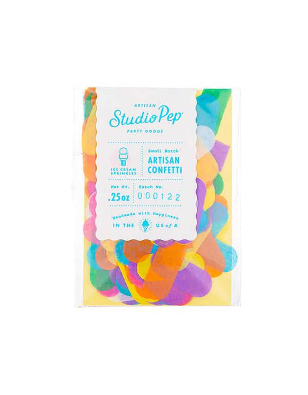Studio Pep Ice Cream Sprinkles Artisan Confetti Mini Bag 0.25 Oz