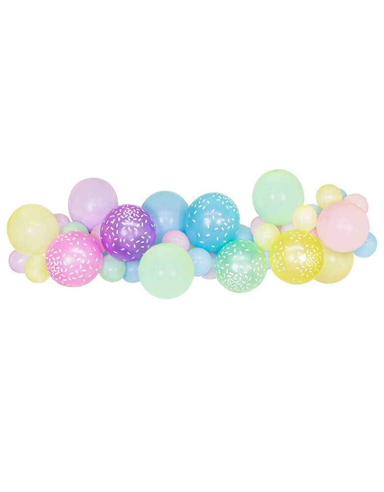 Mixed Pastel Color Latex Balloons for Summer ice-cream-themed Birthday Party Decoration