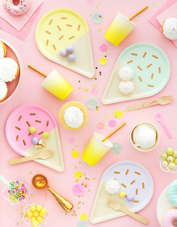 Oh Happy Day_Gelato-Ice-Cream-Large-Plates_Summer Party Supplies