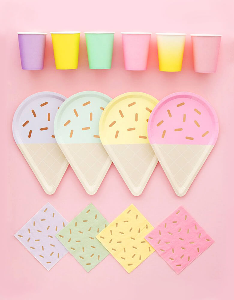 Oh Happy Day_Gelato-Ice-Cream-Small-Napkins_Ice Cream Themed Party Supplies