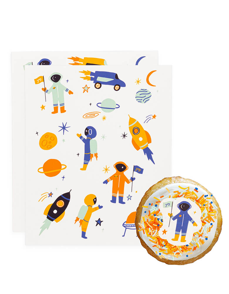 Intergalactic (Space Blue) Edible Decorating Stickers