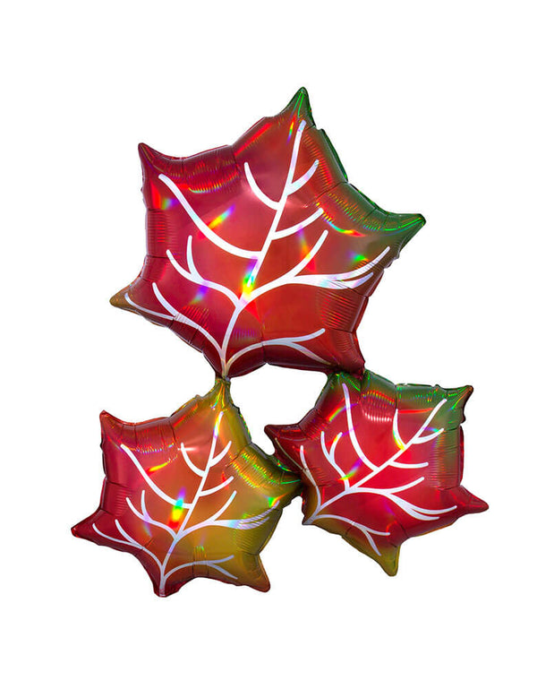 "Anagram 30"" Iridescent Leaves Foil Balloon"