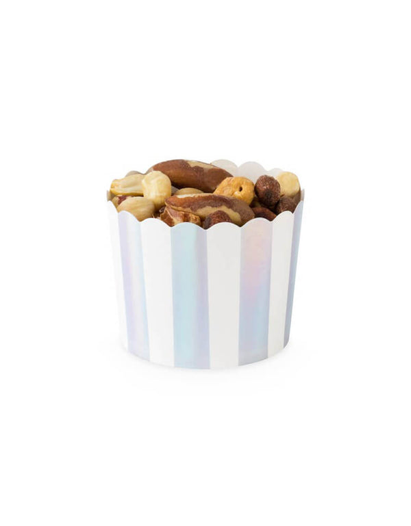 CakeWalk Assorted Iridescent Treat Cup with mixed nuts