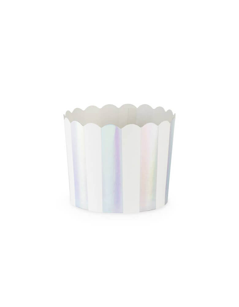 "CakeWalk Assorted Iridescent Treat Cup: 2.75"" diameter x 2"" tall"