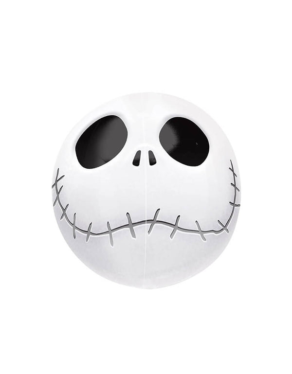 "Anagram 15"" Night Before Christmas Jack Orbz Foil Helium Balloon, official Nightmare Before Christmas character Jack Skeleton in a round spherical orbz lobe shape, featuring his round head and signature grin. Unique Balloon supplies for Halloween haunted house party decoration, Halloween party even, Halloween party ideas, top best halloween party product"