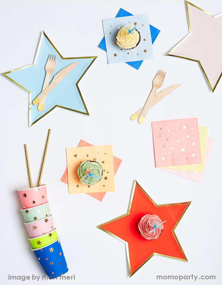 Jazzy Star Napkins (Set of 16)