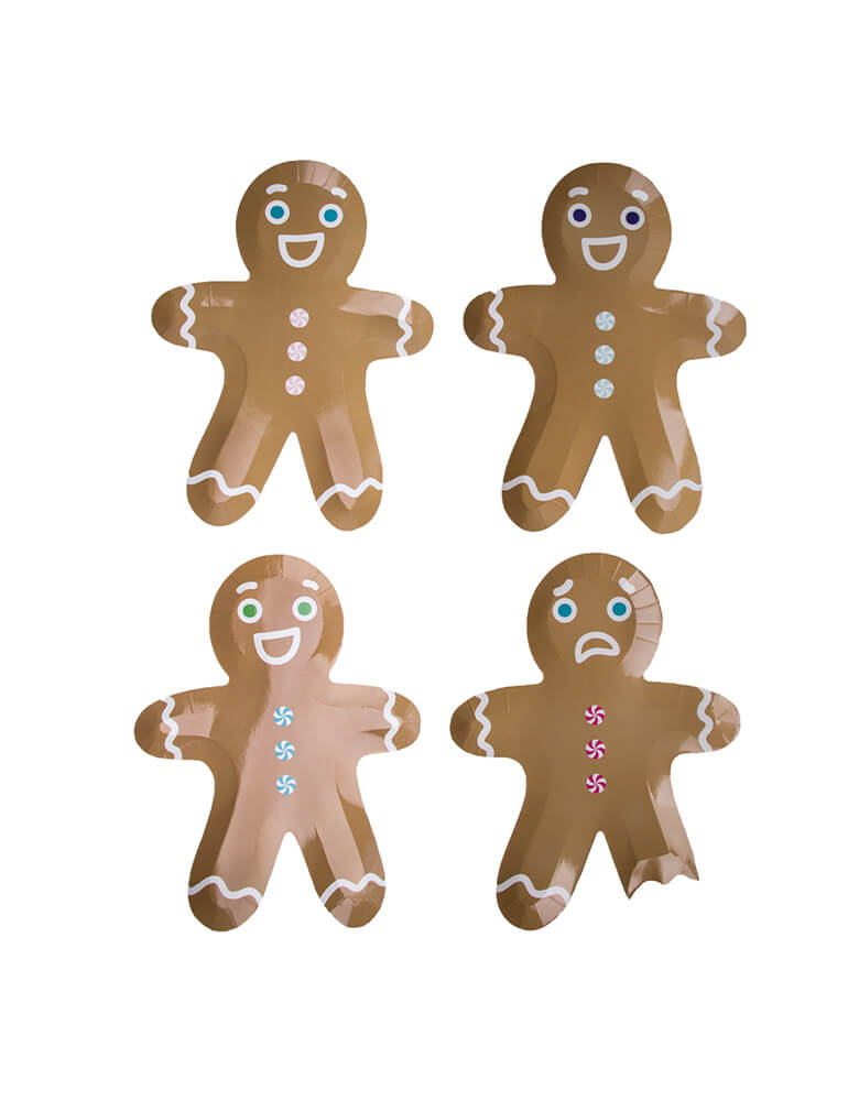 Jollity & Co Gingerbread Man Plates Die-cut Mix