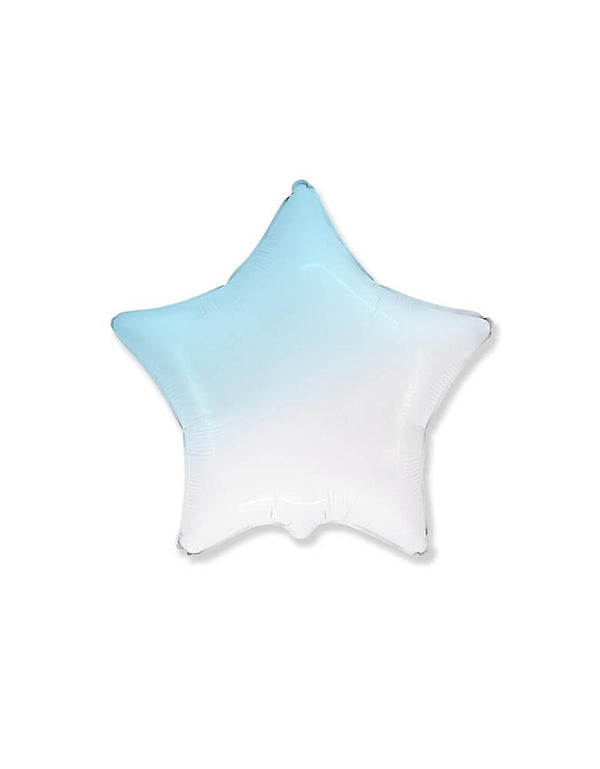 "Party Brands 18"" Junior Gradient Pastel Blue Star Shaped Foil Balloon"