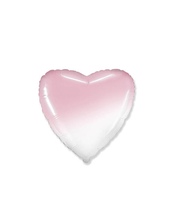 "Party Brands 18"" Junior Gradient Pastel Pink Heart Shaped Foil Balloon"