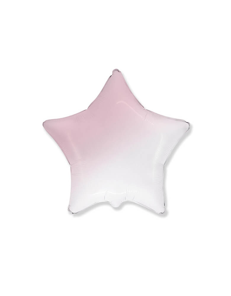 "Party Brands 18"" Junior Gradient Pastel Pink Star Shaped Foil Balloon"