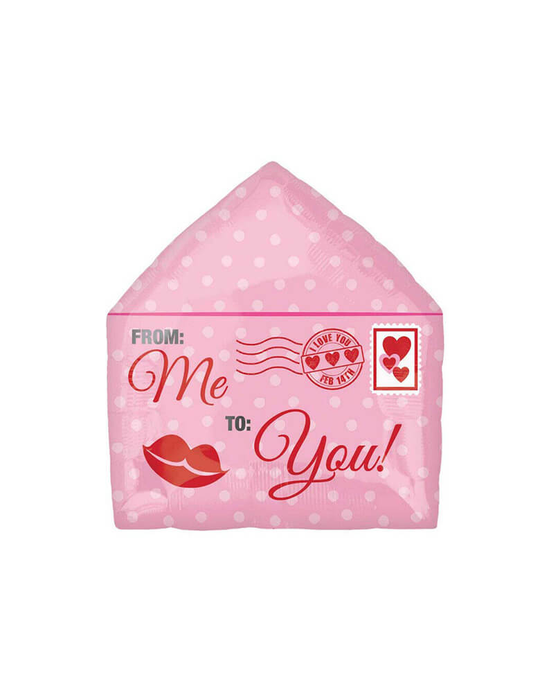 "Anagram 16"" Junior Love Letter Foil Balloon in pink for Valentine's Day"