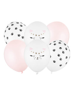 Party Deco Kitty Cat Latex Balloon Mix