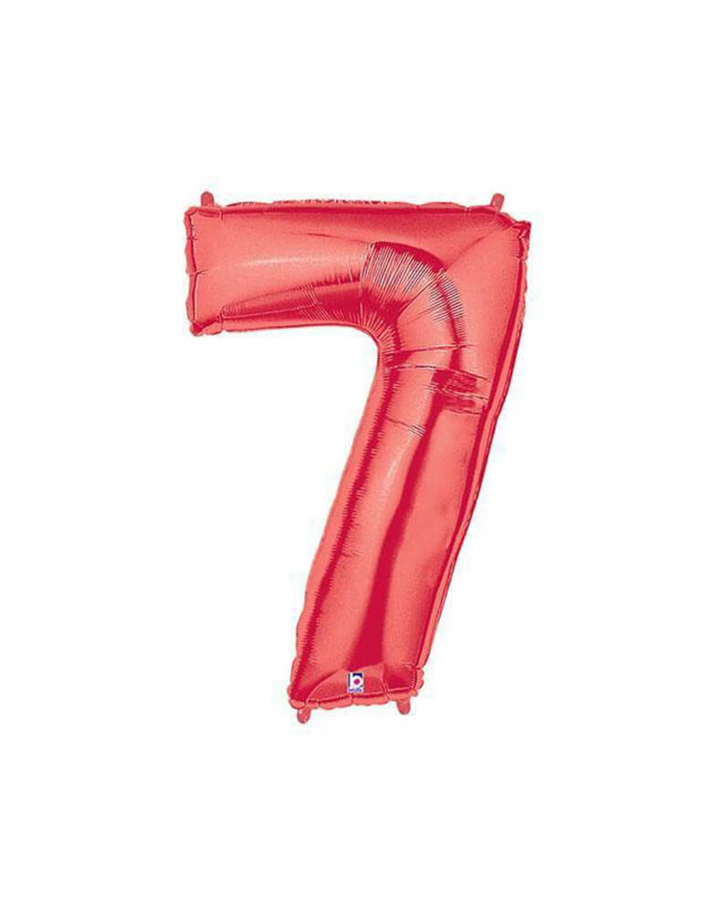 "40"" NUMBER 7 - RED MEGALOON Foil Party Balloon"