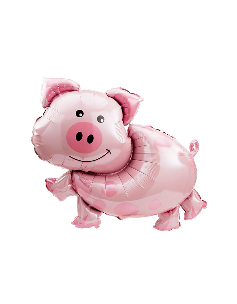 "Anagram 35"" Large Farm Animal Pig Mylar Balloon for Kids Barnyard Party, Farm Party"