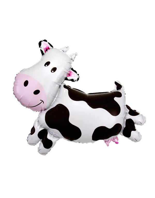 "Anagram 30"" Large Farm Animal Cow Mylar Balloon for Farm Barnyard Themed Party"