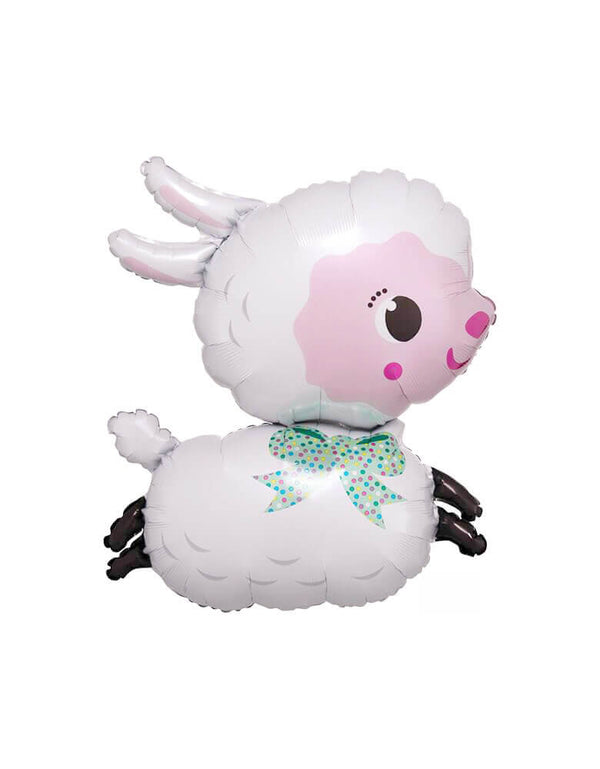 "Anagram 28"" Large Farm Animal Lamb Foil Mylar Balloon for animal themed birthday party, farm birthday party"