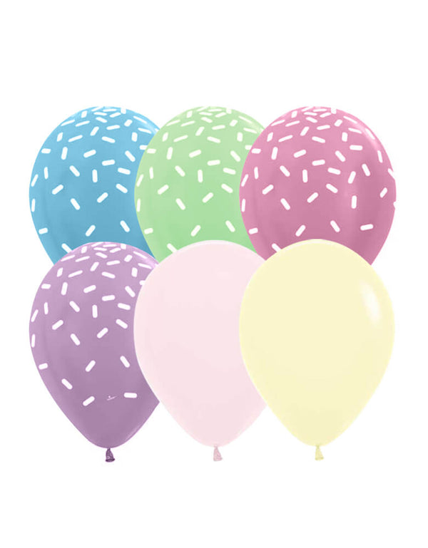 "Betallic 11"" Ice Cream Latex Balloon Mix"