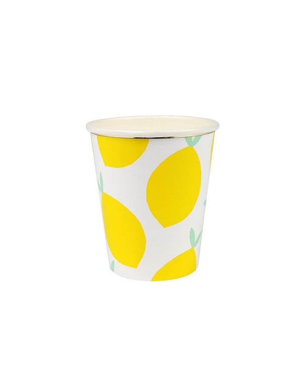 Meri Meri_Lemon_Party Paper Cups_for Fruit Theme Birthday Party