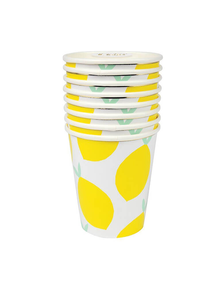 Meri Meri_Lemon_Party eco friendly paper Cups_for Fruit Theme Birthday Party