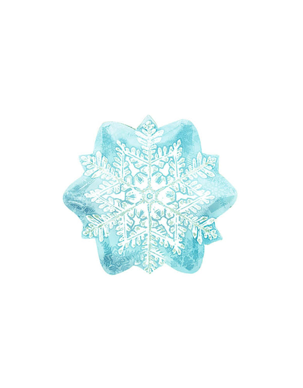 "18"" Anagram Let it snowflake foil balloon in ice blue color"