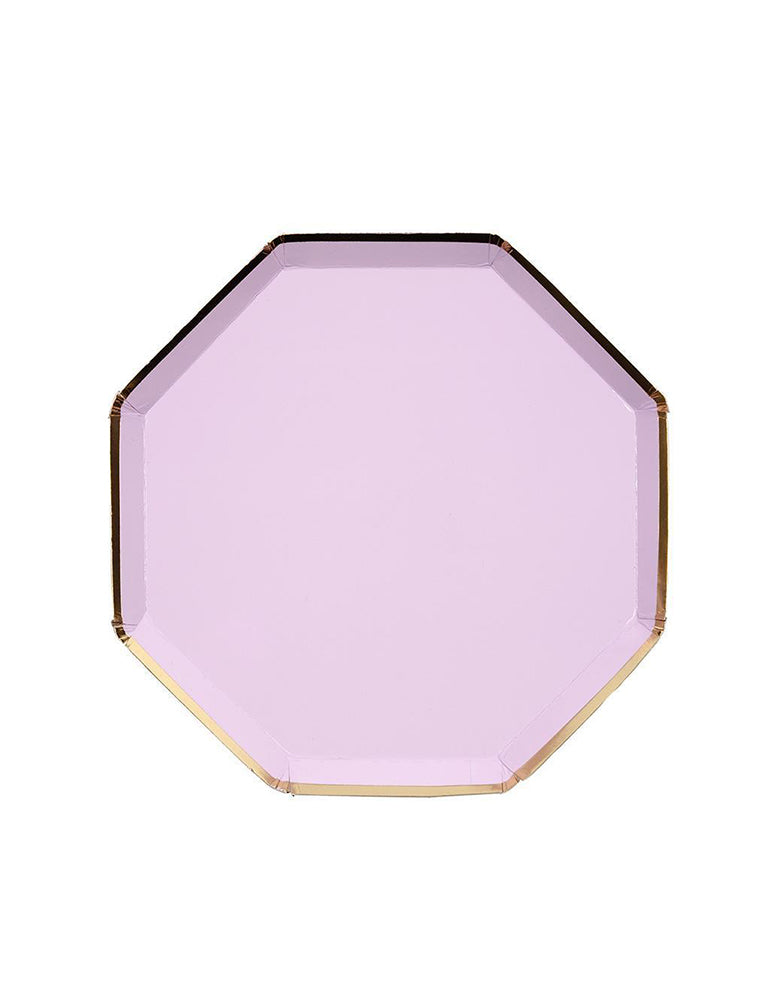 Meri Meri Lilac Side Plates with Gold Foil Border