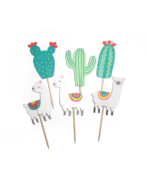 Merrilulu's Llama and Cactus Cupcake Toppers