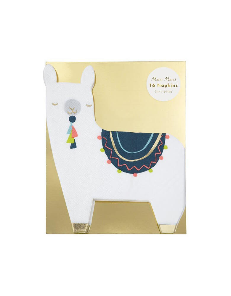 Meri Meri Llama Napkins Set of 16 in package