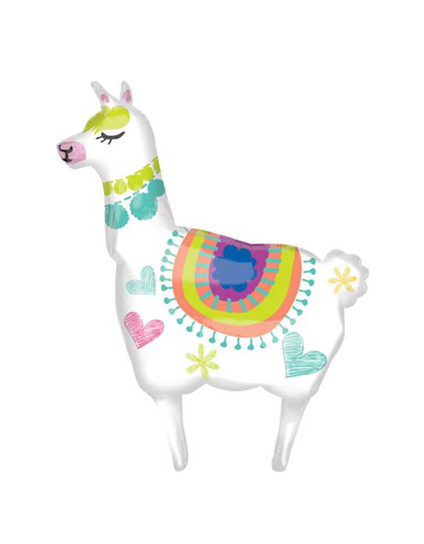 "Anagram 41"" Llama Shaped Foil Mylar Balloon"